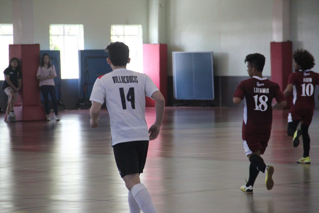 UA&P futsal varsity player Judd Villacrucis in the UA&P vs PWU match, 3.12.17 Taken by Marianne Almirez