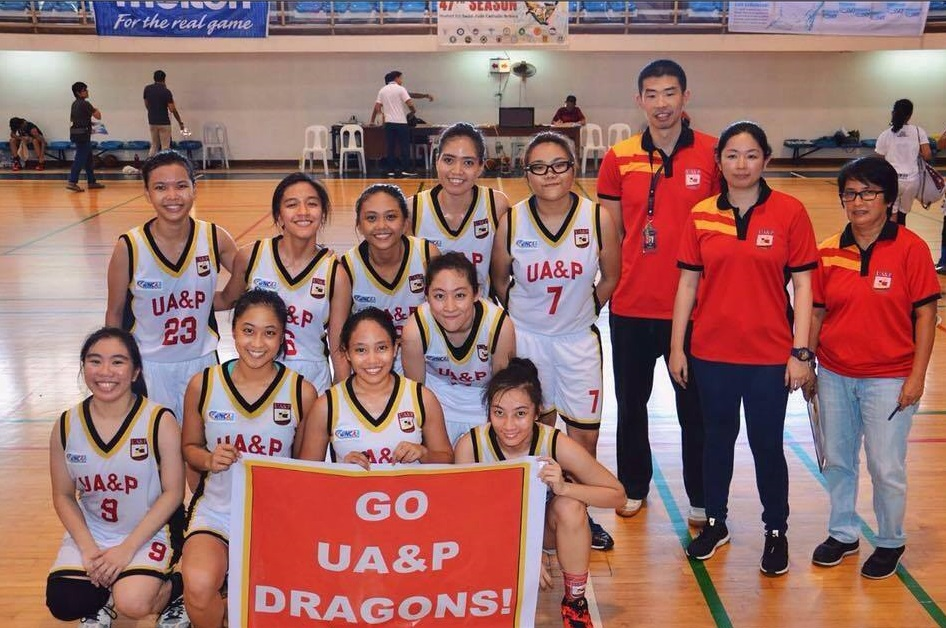 The members of the UA&P Women's Basketball Team Photo taken by Juan Santos