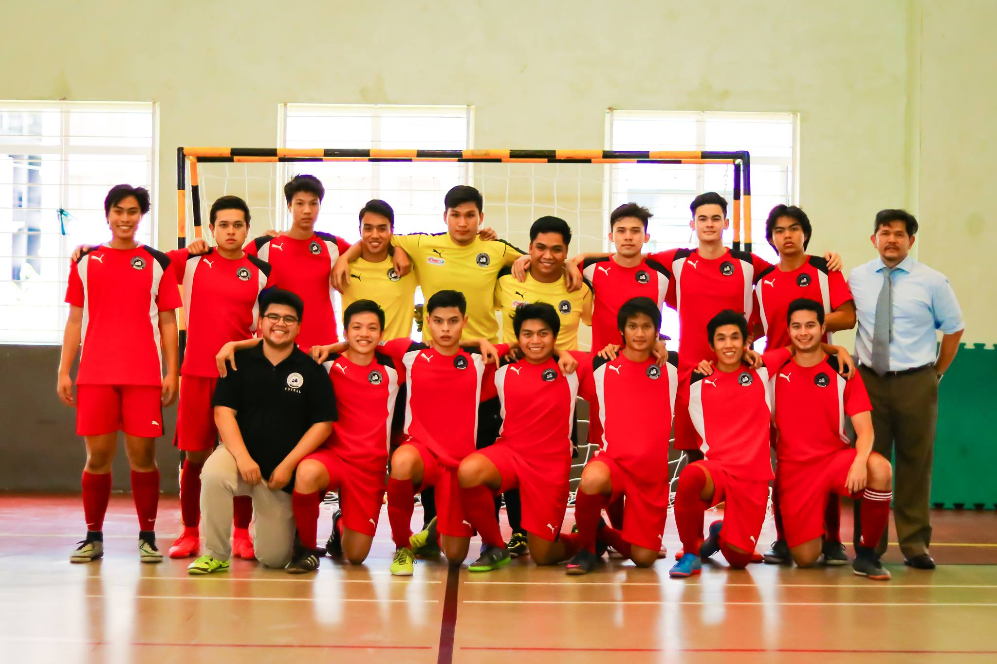 The UA&P Men's Futsal Team at the MNCAA finals Photo taken by Shane Abaño