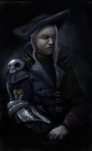 The main villain of Skies Above, Lord Pirate Midnight.